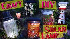 8 DIY Solar Garden Light Craft / HOW TO!