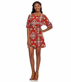 Freeway TribalPrint Woven Dress #Dillards