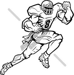 sports clipart image of black white football player holding helmet rh pinterest com free football player clipart black and white playing football clipart black and white