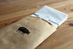 brown paper & stamp-simple perfection