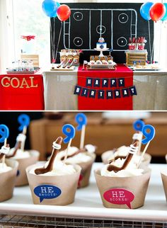 Modern Hockey Party {Montreal Canadiens Inspired}                                                                                                                                                                                 More