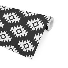 THIRD EYE KILIM BLACK Peel and Stick Wallpaper By Becky Bailey - 2ft x 16ft