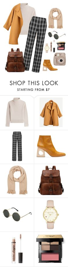 """casual traveling"" by kikianas on Polyvore featuring Vanessa Seward, Proenza Schouler, Marni, Barneys New York, Kate Spade, Charlotte Russe, Bobbi Brown Cosmetics and Fujifilm"