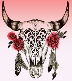Want the bull skull and deer skull together on right foot