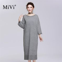 MIVI Brand 2017 New Women Loose knitted Sweater Long Sleeve Ladies Sweaters Elegant Dress Knitwear Autumn Female Clothes
