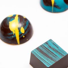 The #turquoiseblue collection from a while back we absolutely love that color. Should we bring it back? #indulgechocolat