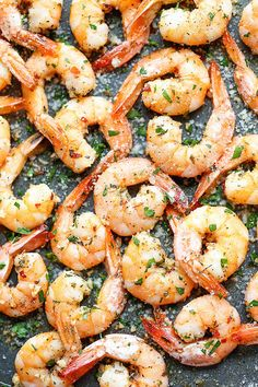 Garlic Parmesan Roasted Shrimp  http://damndelicious.net/2014/12/05/garlic-parmesan-roasted-shrimp/