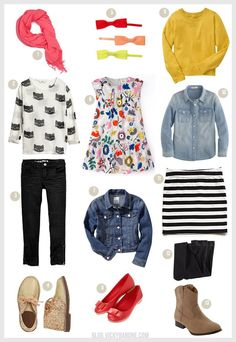 Back to School: Outfits for Girls | Vicky Barone