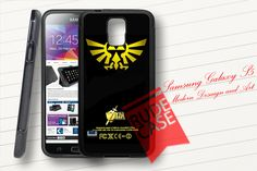 Samsung Galaxy S5 Custom ZELDA TRIFORCE GOLDEN LOGO Rubber Case