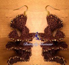 Crochet Spiral Earrings, Stunning Handmade Crochet rings
