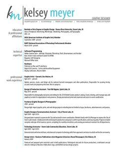 Graphic Designer CV sample