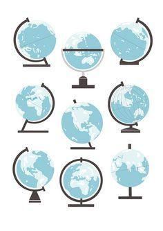 Globes, via Flickr.