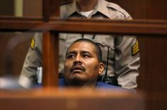 Luiz Fuentes, the father who is accused of killing his three sons in a car in South Los Angeles, makes a brief appearance in L.A. Superior Court on Wednesday, Sept. 16, 2015.