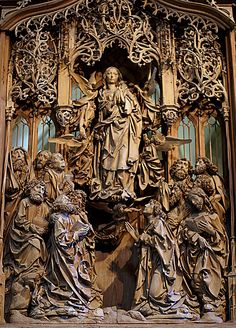 Creglingen, Herrgottskirche, Marienaltar von Tilman Riemenschneider, Mariä Himmelfahrt (St. Mary's Altar, Assumption of Mary) | da HEN-Magonza