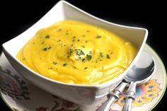 This recipe for Low Fat Creamy Cauliflower Saffron Soup makes a delicate, soup with subtle flavors and velvety texture. Adding a potato to the soup instead of cream gives it a creamy texture without the added calories.