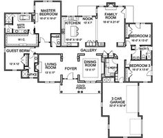 Traditional Style House Plan - 4 Beds 3.50 Baths 3481 Sq/Ft Plan #490-20 Floor Plan - Main Floor Plan - Houseplans.com
