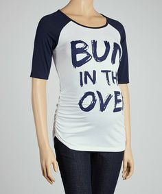 Take a look at this Navy Raglan Maternity Top by Mom & Co. on #zulily today!
