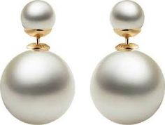 real pearl earrings - Google Search