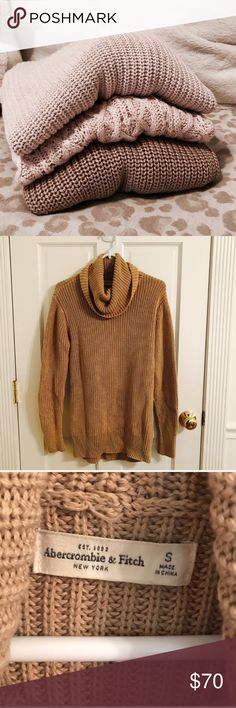 3 sweater bundle! All in good condition. Super cute for fall. All fit like a s/m Abercrombie & Fitch Sweaters Crew & Scoop Necks