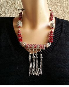 Traditional Yemenit charm and prayer  box necklace