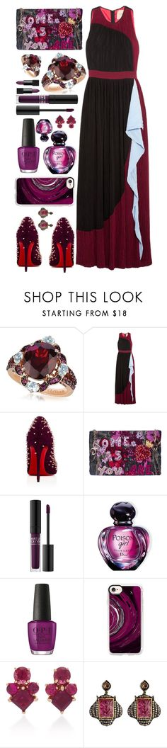 """""""Holiday"""" by sunnydays4everkh ❤ liked on Polyvore featuring LE VIAN, Roksanda, Christian Louboutin, Dolce&Gabbana, MAKE UP FOR EVER, Christian Dior, OPI, Casetify, Jane Taylor and Amrapali"""