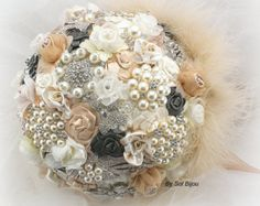 ***Made Upon Request- This listing is for a pearl bouquet in ANY color combination. This listing shows a few of the endless color options available to