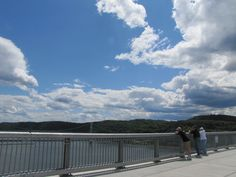 Walkway Over the Hudson State Historic Park, the longest pedestrian bridge in the world! Spans the Hudson River from Poughkeepsie to Highland, NY