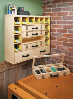 Build your own Hardware Storage Cabinet with plans from Woodsmith Plans