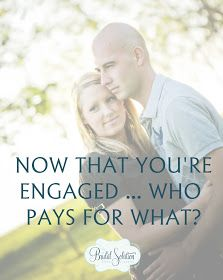 The Bridal Solution: TBS Tip: You're Engaged ... Now WHO Pays for What? This will come in handy one day