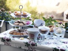 Display all your delicious desserts on the glass IKEA 365+ tiered serving platter.