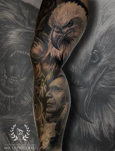 Native American Leg Sleeve Tattoo by: Prima #MaTattooBali #RealistTattoo #LegTattoo #BaliTattooShop #BaliTattooParlor #BaliTattooStudio #BaliBestTattooArtist #BaliBestTattooShop #BestTattooArtist #BaliBestTattoo #BaliTattoo #BaliTattooArts #BaliBodyArts #BaliArts #BalineseArts #TattooinBali #TattooShop #TattooParlor #TattooInk #TattooMaster #InkMaster #AwardWinningArtist #Piercing #Tattoo #Tattoos #Tattooed #Tatts #TattooDesign #BaliTattooDesign #Ink #Inked #InkedGirl #Inkedmag #BestTattoo… Native American Warrior Tattoos, Native Indian Tattoos, Indian Skull Tattoos, Native American Drawing, Native American Animals, Native American Artists, Animal Sleeve Tattoo, Leg Sleeve Tattoo, Leg Tattoo Men