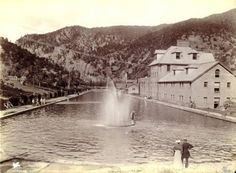 1882  Pool and Bath House ~ Glenwood Springs Colorado ~ 1882