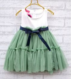 baby girl's summer dress two layers,3,4,5,6,7T Baby girl clothes skirt green tutu. $25.00, via Etsy.