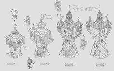 Damsel in distress - tower turnaround, Florian Haeckh on ArtStation at http://www.artstation.com/artwork/damsel-in-distress-tower-turnaround