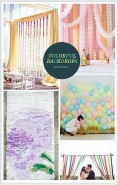 do you want to do a colorful backdrop behind the cupcakes? its easy to make  frame and incorporate your colors into the reception room? or should we just let the colors be on the tables...