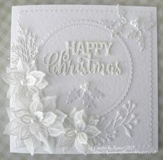 Happy New Year! Thank you for your gorgeous and beautiful makes during this Christmas fortnight. Here's the winners of the prizes (drawn . Die Cut Christmas Cards, Beautiful Christmas Cards, Homemade Christmas Cards, Xmas Cards, Handmade Christmas, Poinsettia Cards, Christmas Poinsettia, Christmas Décor, Crochet Christmas