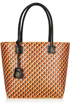 Tory Burch's version of a Goyard-esque bag for a fraction of the price.