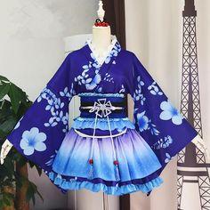 Love Live Sonoda Umi Cosplay Kimono Source by thebluewolfstar Kimono Outfit, Kimono Fashion, Cosplay Outfits, Anime Outfits, Cosplay Dress, Kawaii Fashion, Lolita Fashion, Old Fashion Dresses, Fashion Outfits