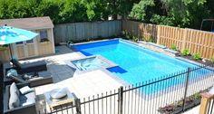 Backyard Getaways - Custom Swimming Pools & Backyards Toronto - love the lawn chairs