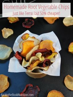 Crispy homemade root vegetable chips that are just like Terra, only much healthier and cost up to 50% cheaper! Save some cash and make them yourself!