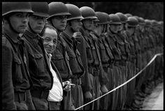 Thomas Hoepker WEST GERMANY. Bonn. 1967. A Spectator at a parade of the German army, the Bundeswehr