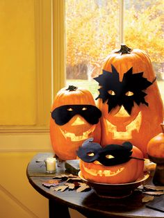 Trick out your jack-o'-lanterns in adorable handmade masks.