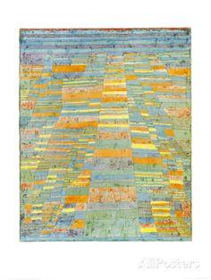 Chemin principal et chemins secondaires, vers 1929 Affiche par Paul Klee sur AllPosters.fr
