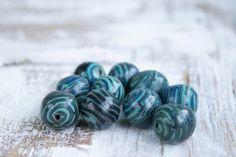 20mm Beads Clay Beads Polymer Clay Beads Large by DekorEtenIren