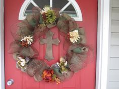 Autumn Blessing Wreath...I made this for Pastor Appreciation Month