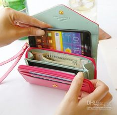 Women Wrist Wallet Case Pouch Purse Bag for Samsung Galaxy iPhone 4 5