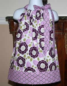 I would like this even more if it was more of a cream color than white/light blue.  Pillowcase Dress toddler spring dresses joel dewberry lilac bloom girls baby. $19.99, via Etsy.