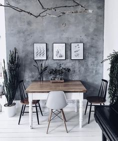 Grey Wall Color, Silver Walls, Studio Room, Beautiful Interior Design, Dining Room Inspiration, House Rooms, Sweet Home, Interior Decorating, Mini Gardens
