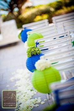 Wedding Decorations and Wedding Ideas. Blue and Green wedding colors. Photography by AlvaradoPhotographyhttp://pinterest.com/pin/131800726567007445/