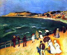 1906Raoul Dufy Promenade Sur La Jetée